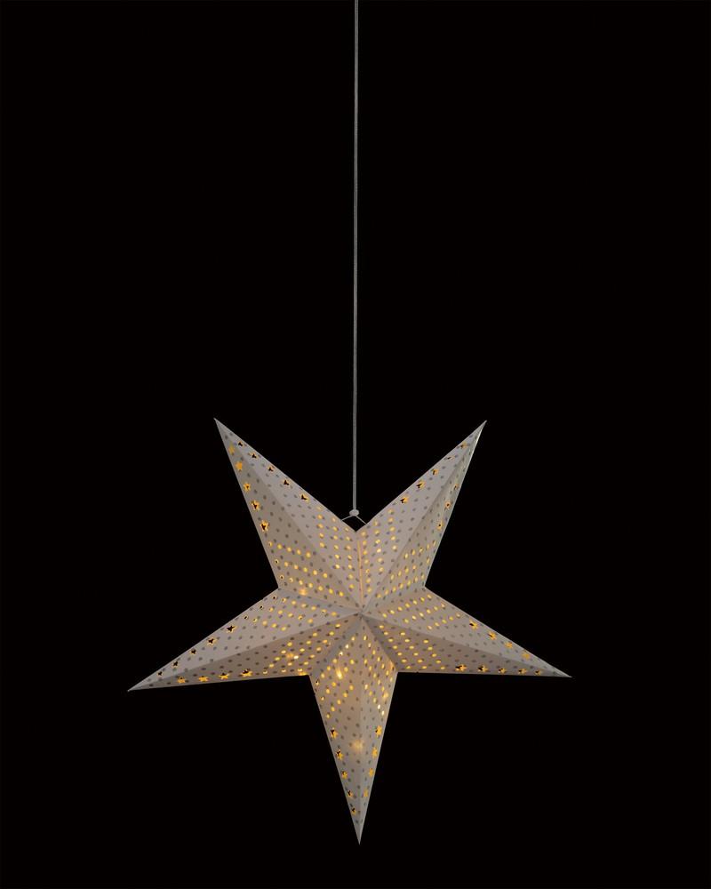 Stern Weihnachtsbeleuchtung.Papier Stern Frutiger Display Ag Dekorationskonzept