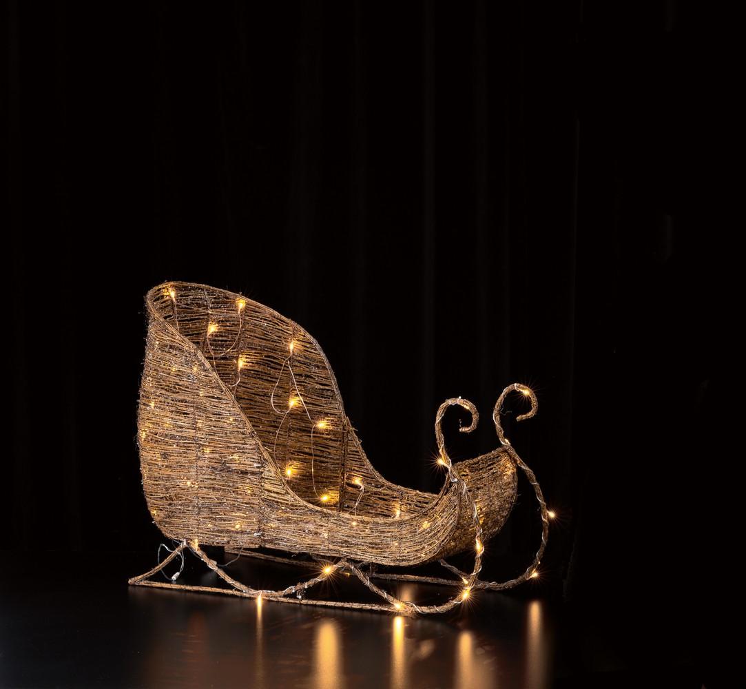 Weihnachtsbeleuchtung Schlitten.Rattan Schlitten Frutiger Display Ag Dekorationskonzept